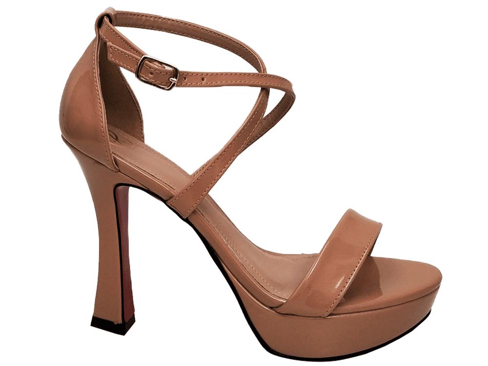 Sandalia meia pata vz nude salto 11cm   Cód.: 873