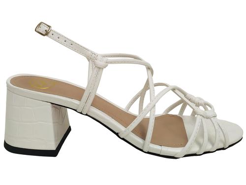 Sandália napa branco 5cm Cód.741