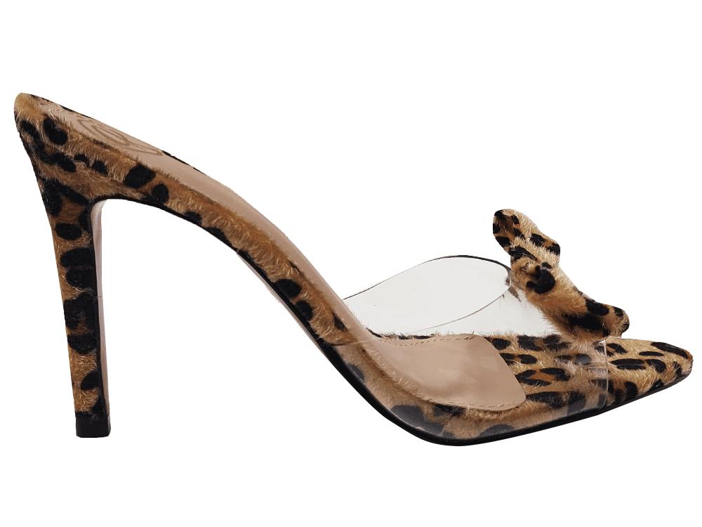 Sandália/tamanco pelo onça 9cm Cód.1309