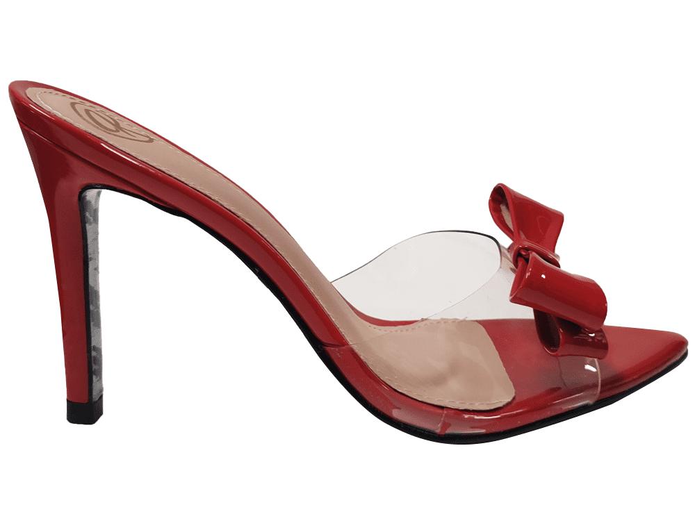 Sandália/tamanco verniz ferrari 9cm Cód.1308