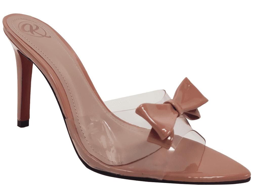 Sandália verniz nude 9cm Cód.1177