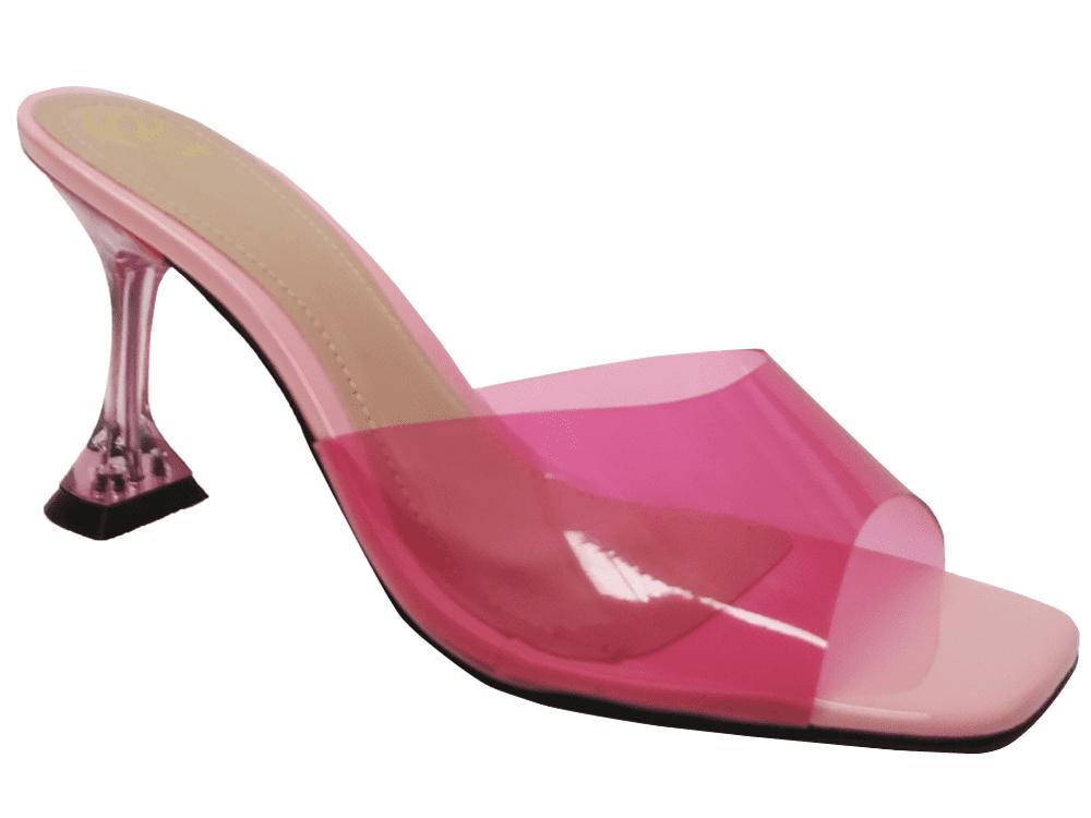 Sandália vinil rosa 9cm Cód.1038