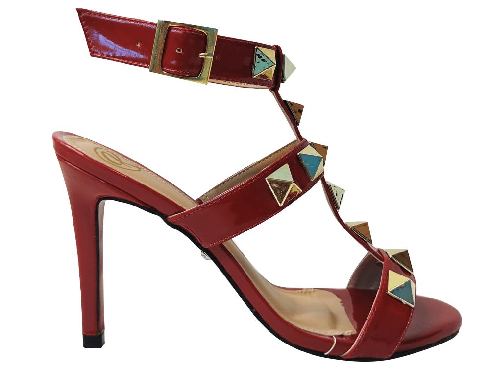 Sandália vz scarlet/ spike SF 9cm Cód.1594