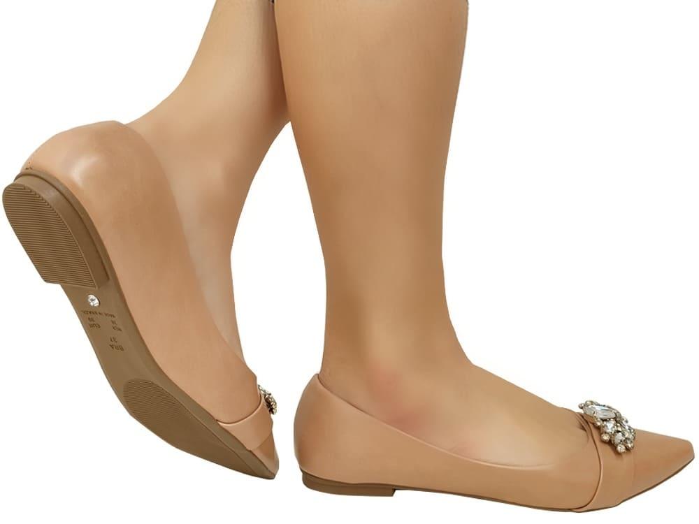 Sapatilha calf nude Cód.956