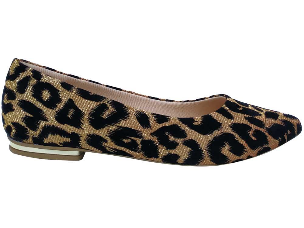 Sapatilha onça glamour ouro Cód.599