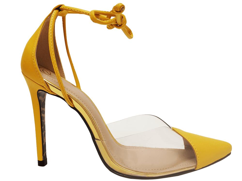 Scarpin napa amarelo salto 11cm Cód.927
