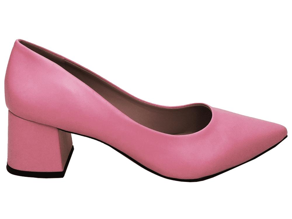 Scarpin napa rosa salto 5cm Cód.: 885