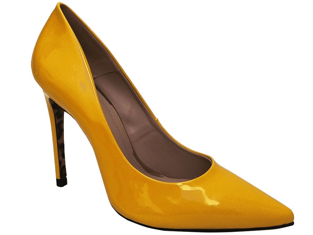 Scarpin verniz amarelo salto 11cm   Cód.: 886