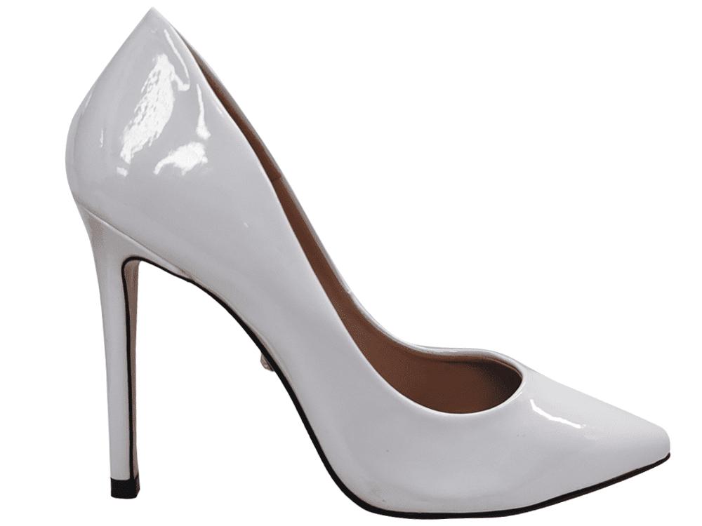Scarpin verniz branco salto 11cm   Cód.: 1510