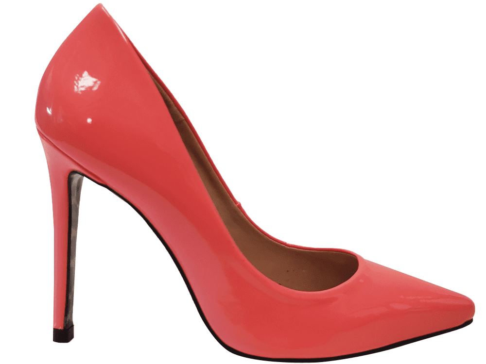Scarpin verniz flamingo salto 11cm   Cód.: 1225