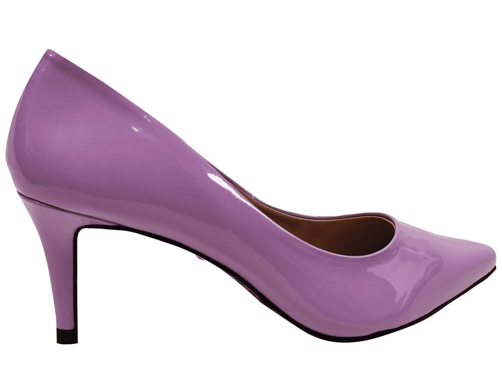 Scarpin verniz hortencia salto 7cm Cód.: 1466