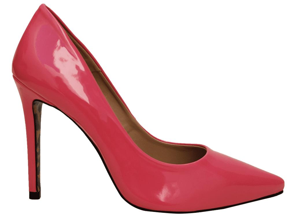 Scarpin verniz rosa salto 11cm   Cód.: 986
