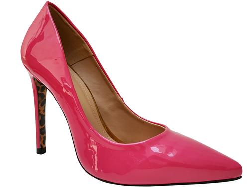 Scarpin verniz rosa shok salto 11cm   Cód.: 996