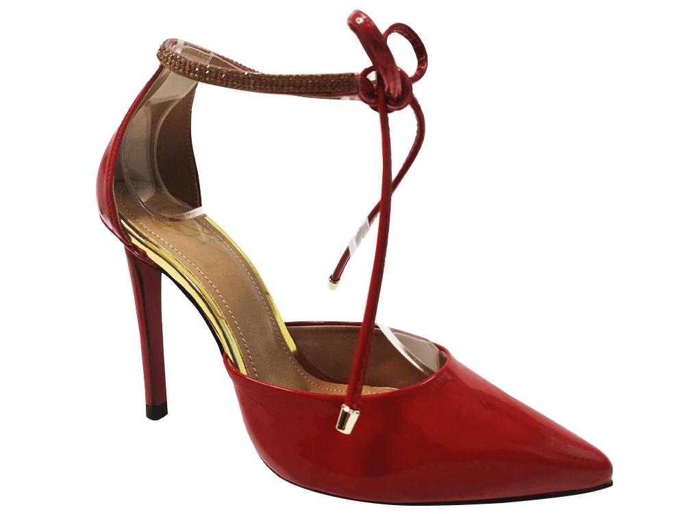 Scarpin verniz scarlet salto 11cm  Cód.: 1694