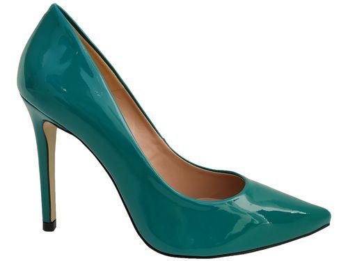 Scarpin verniz verde salto 11cm   Cód.: 770