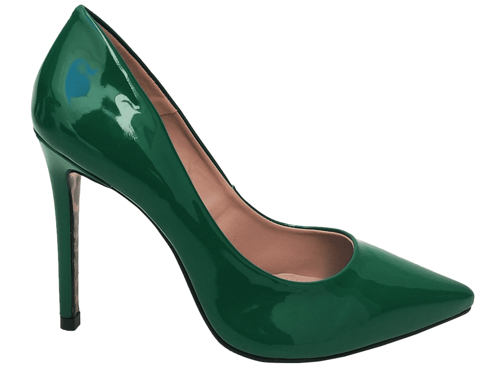 Scarpin verniz verde salto 11cm   Cód.: 888