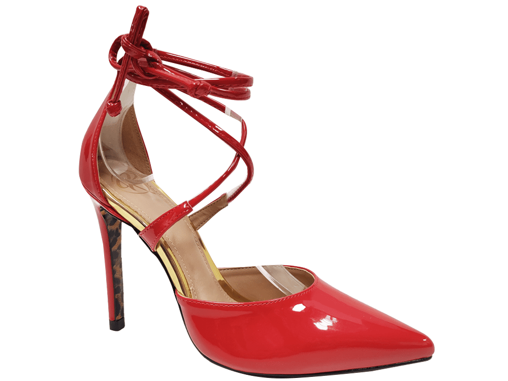 Scarpin verniz vermelho salto 11cm Cód.1326