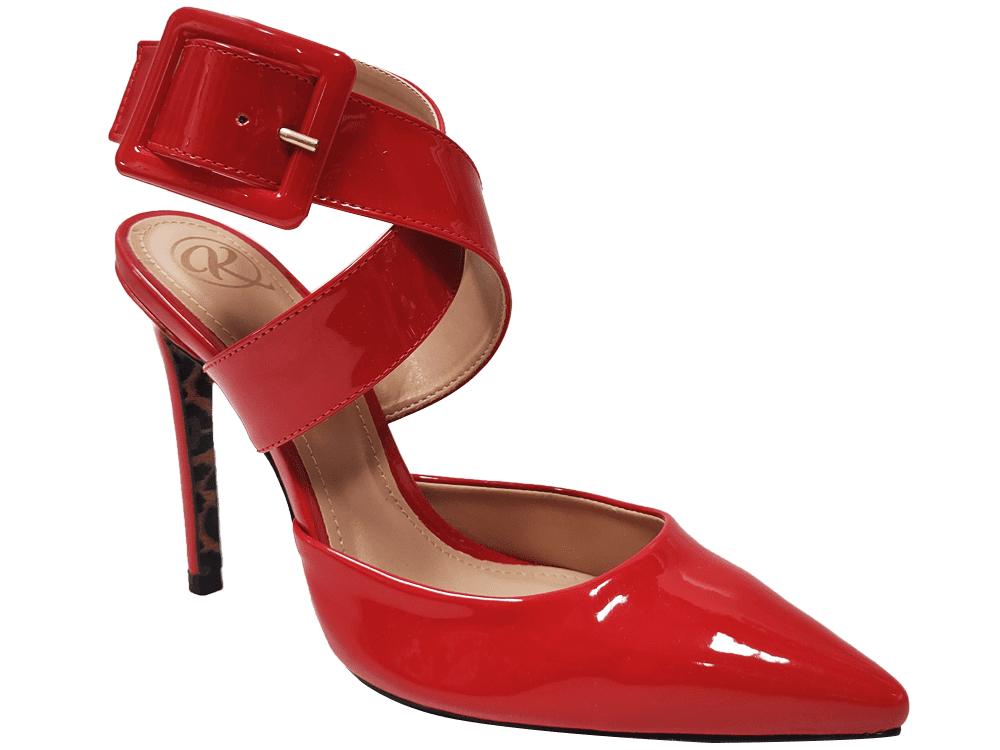 Scarpin verniz vermelho salto 11cm Cód.1413