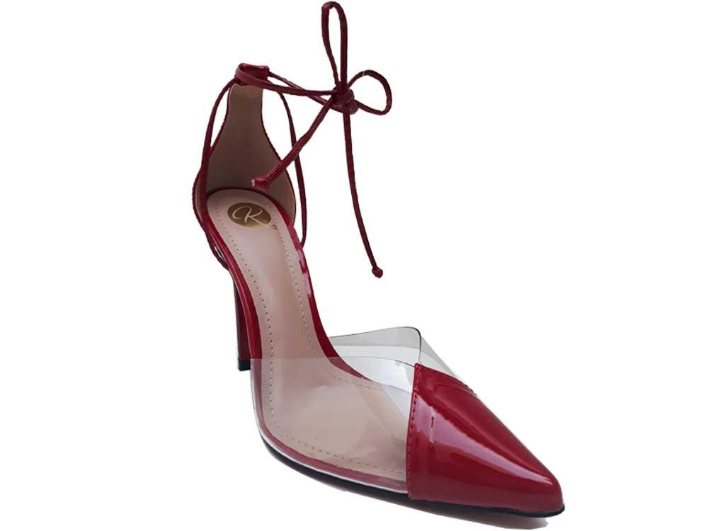 Scarpin verniz vermelho salto 11cm Cód.520