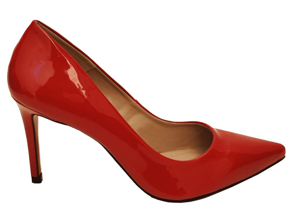 Scarpin verniz vermelho salto 9cm Cód.: 920