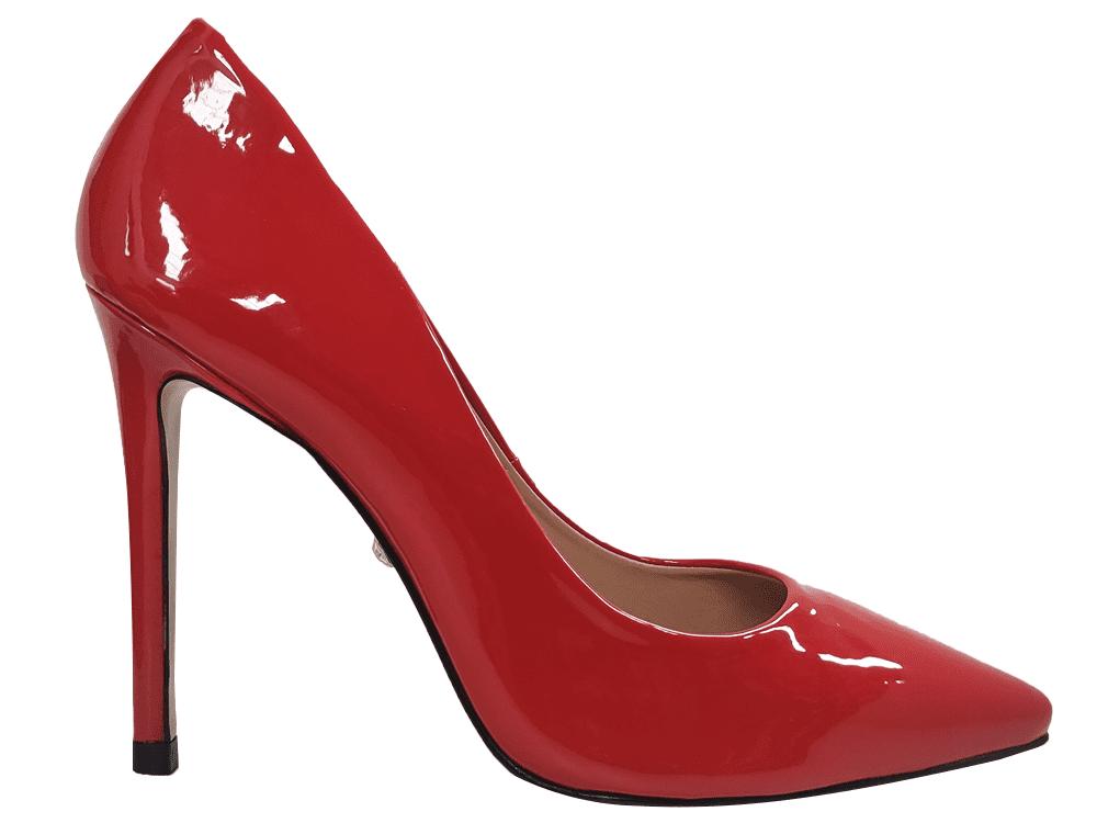 Scarpin verniz vermelho/ SN salto 11cm   Cód.: 1511