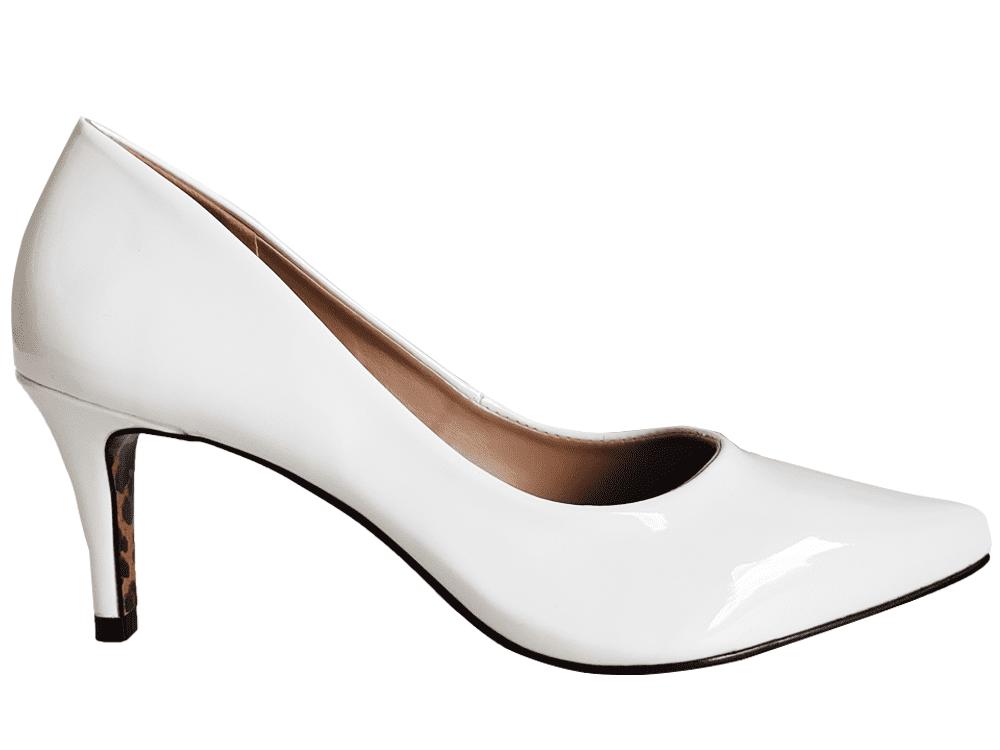 Scarpin vz branco  7cm Cód.: 1013