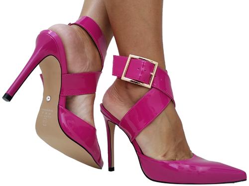 Scarpin vz pink salto 11cm sola natural  Cód.: 672