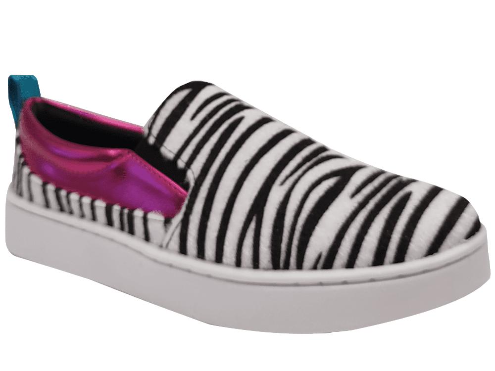 Tenis pelo zebra / pink Cód.1248
