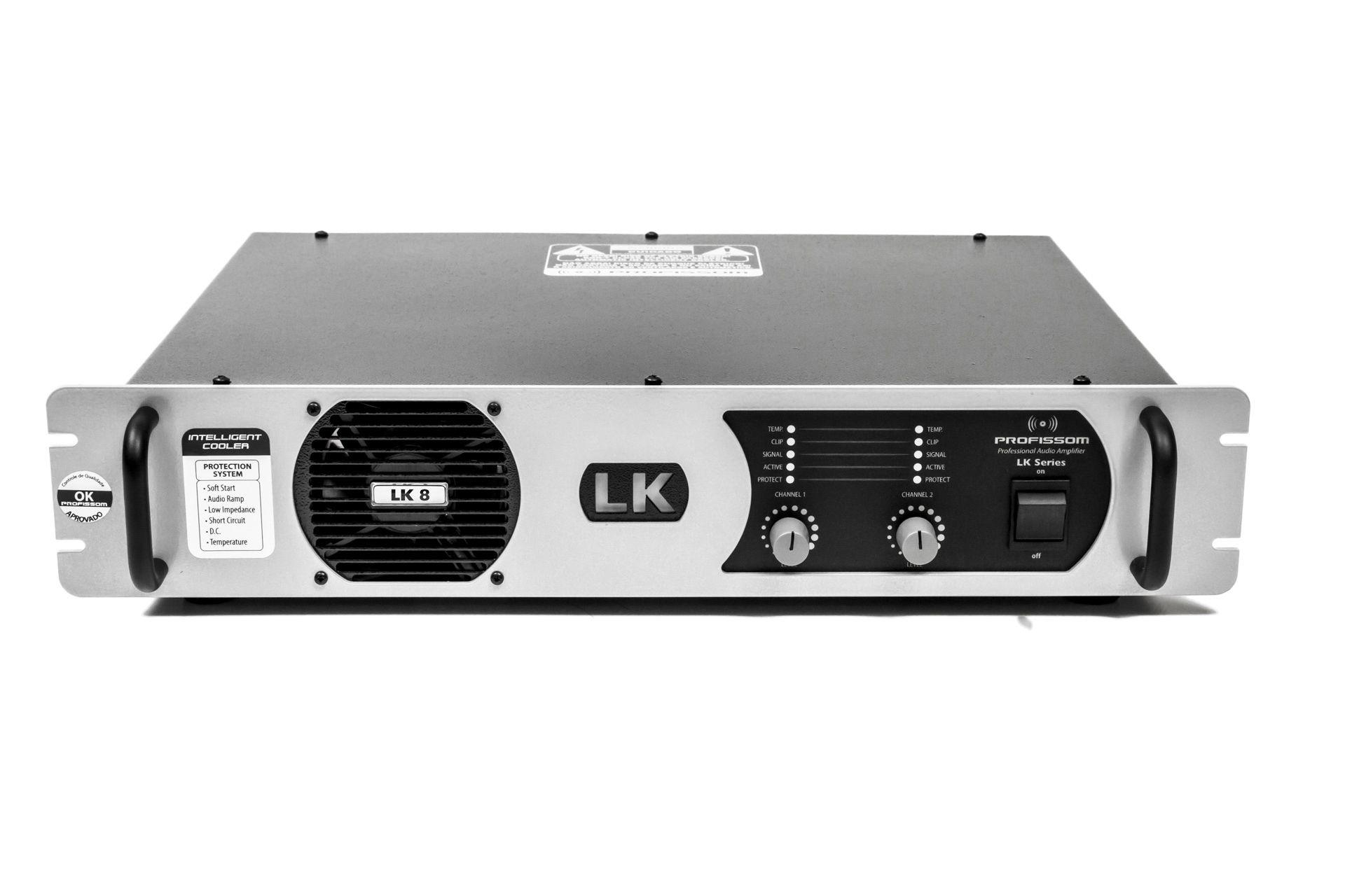 Amplificador Profissom LK 8 (1.600 W rms · 4 ohms)