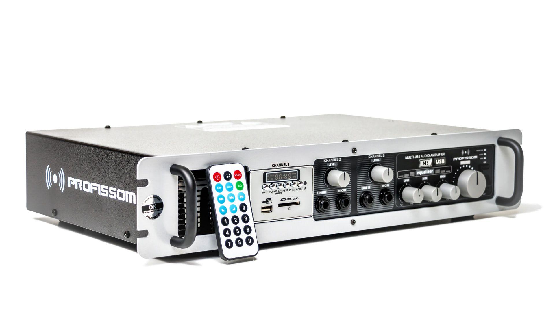 Amplificador Profissom Multi-Use M3 USB (300 W rms @ 4 ohms)