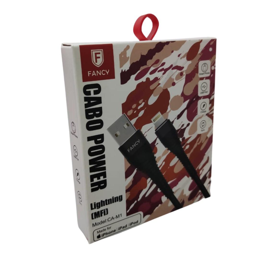 Cabo Usb Certificação Apple Mfi Lightning A2 Rock Autobot iPhone 11/x/xs/xr/max/8/7/plus/6s/se/5s/iPad/iPod Fancy CA-M1