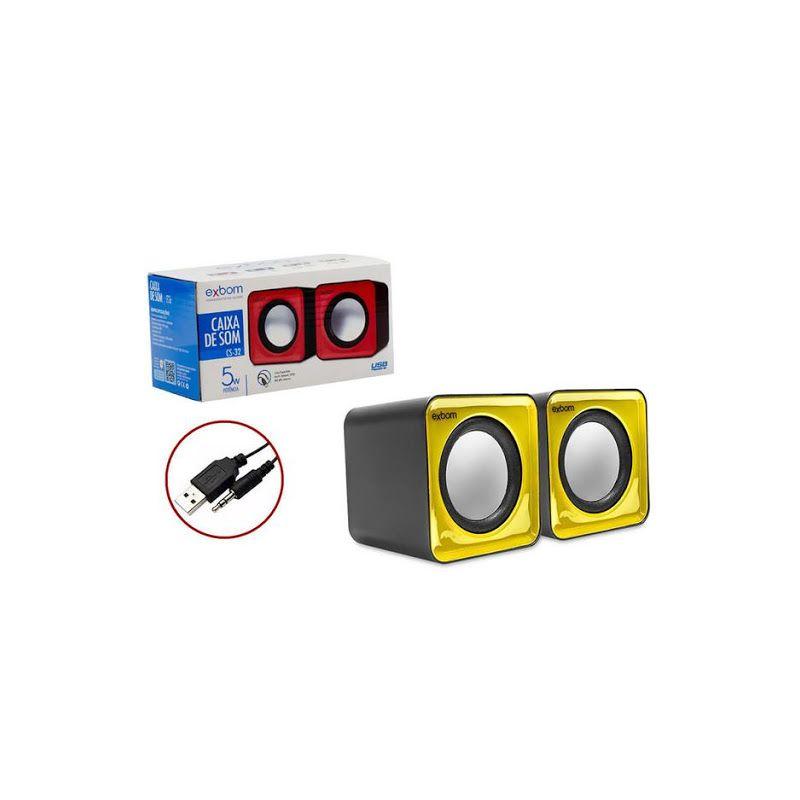 Caixa de Som 2.0 para Computador e Smartphone Exbom CS-32