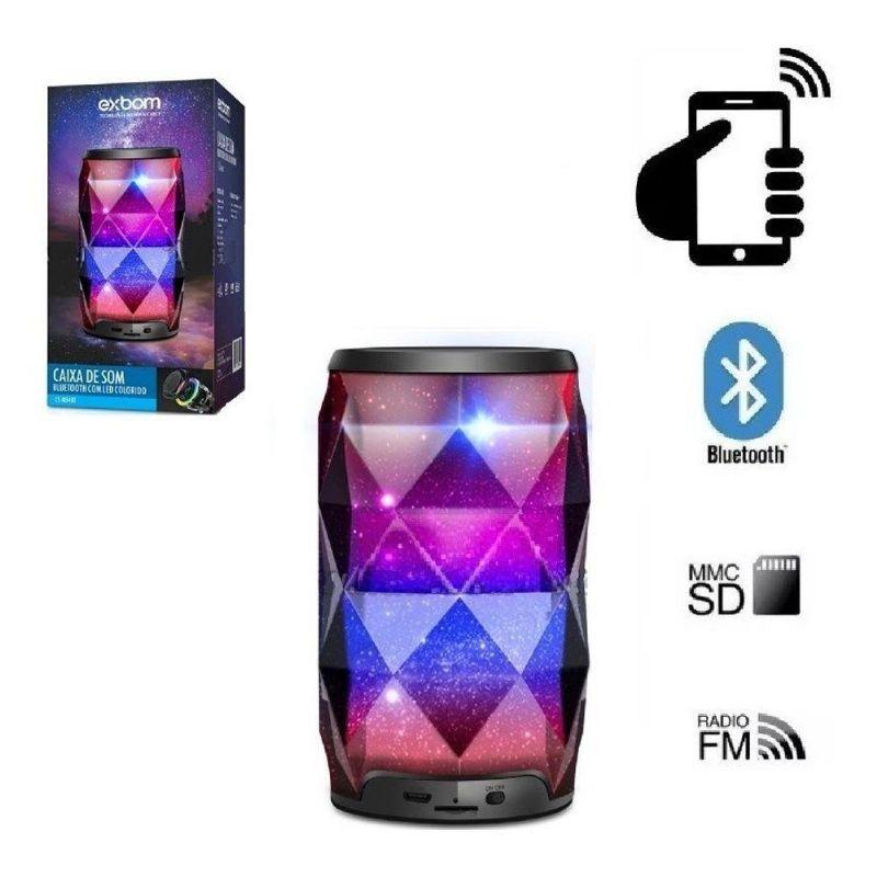 Caixa de Som Bluetooth Led RGB CS-M54BT