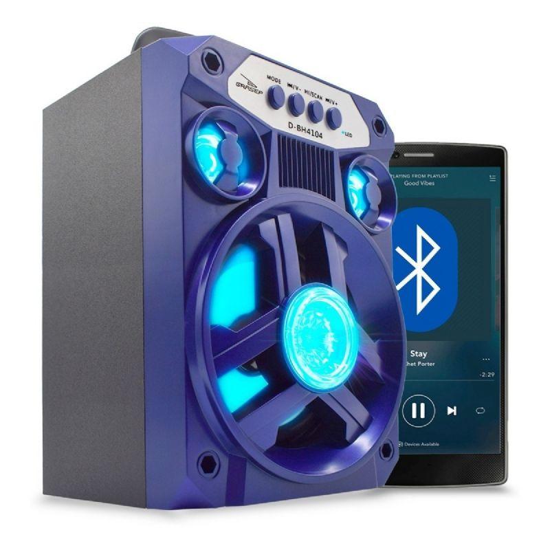 Mini Caixa Som Portátil Bluetooth Mp3 Fm Sd Usb Grasep D-BH4104