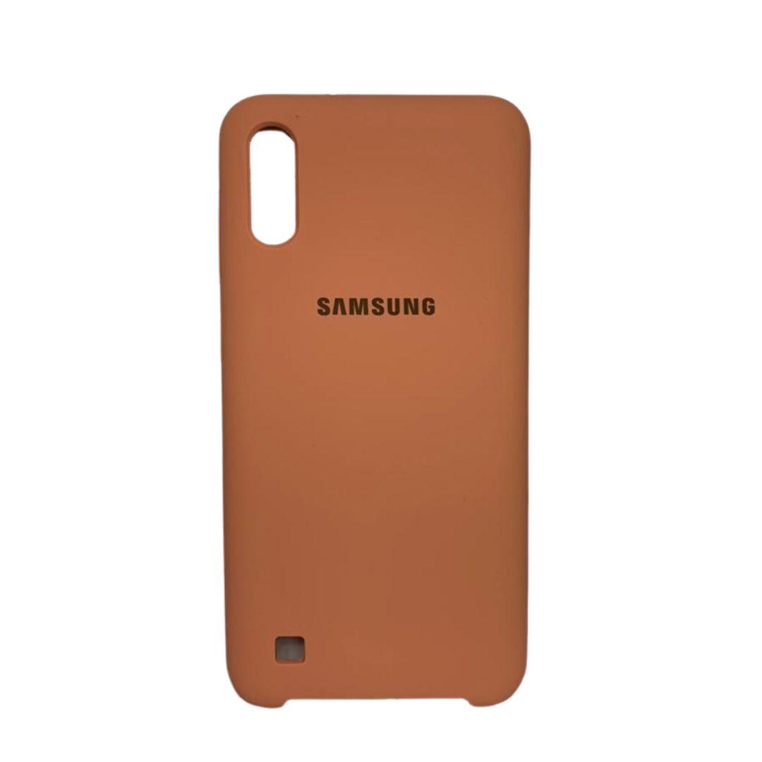 Capa Original Silicone Case Samsung A10 Salmão SC-A10-SA