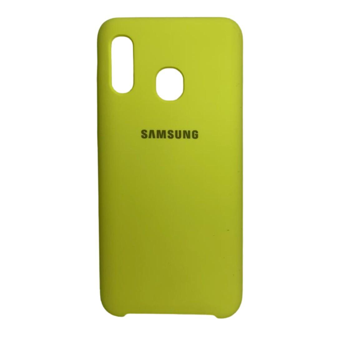 Capa Original Silicone Case Samsung A20/A30 Amarela SC-A20/A30-AM