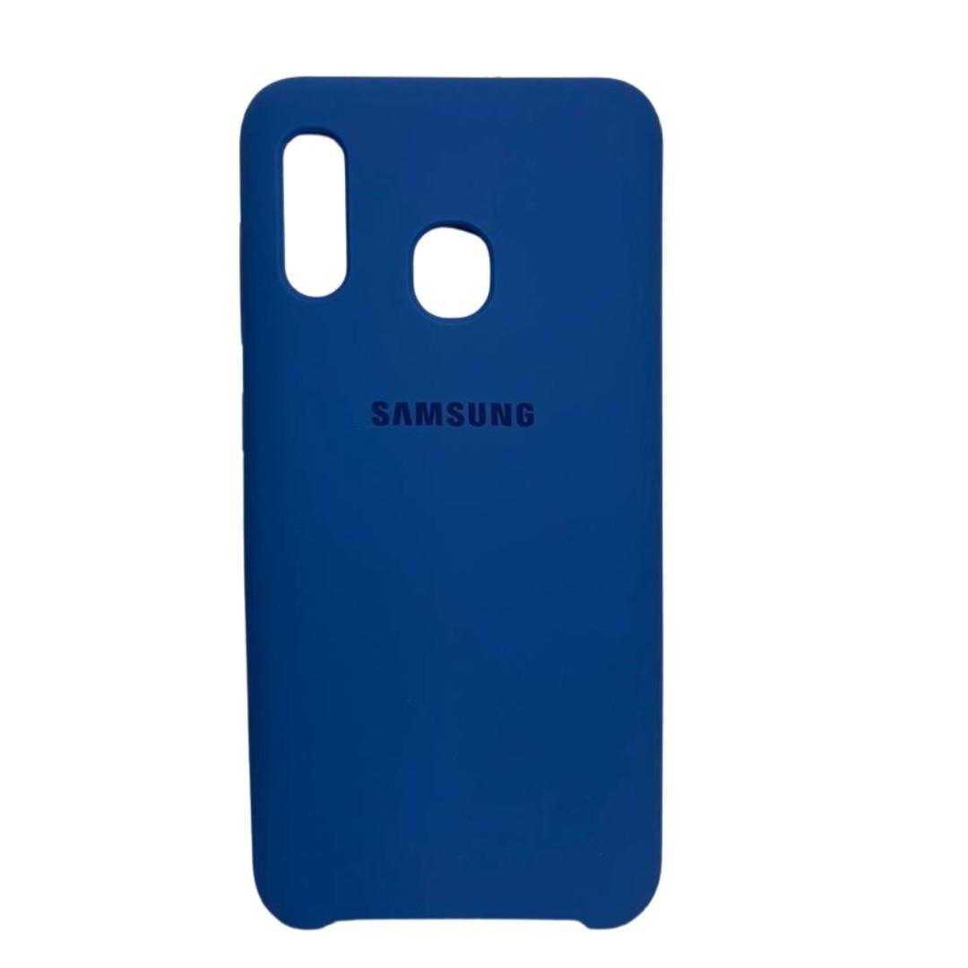 Capa Original Silicone Case Samsung A20/A30 Azul Bic SC-A20/A30-AB