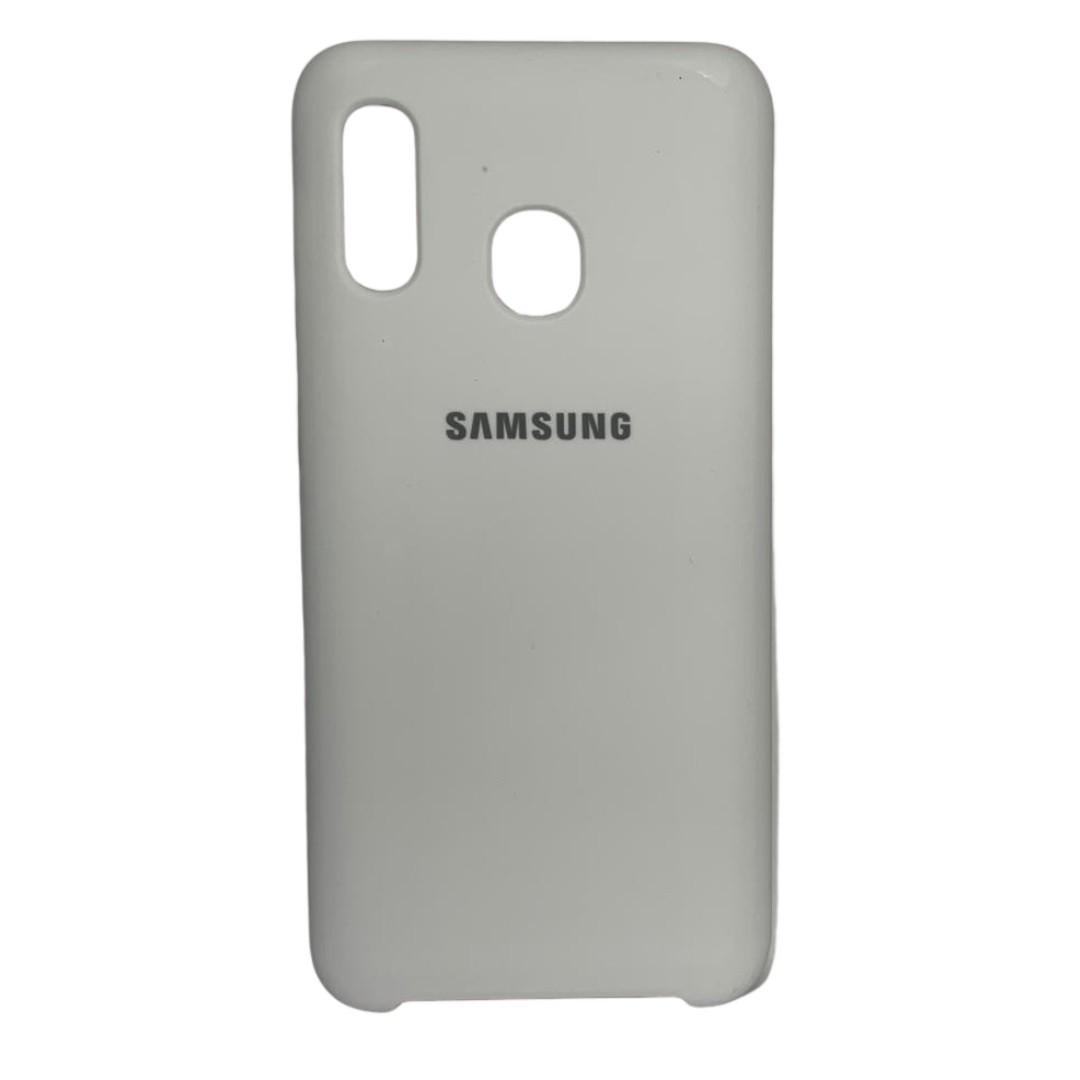 Capa Original Silicone Case Samsung A20/A30 Branca SC-A20/A30-BR