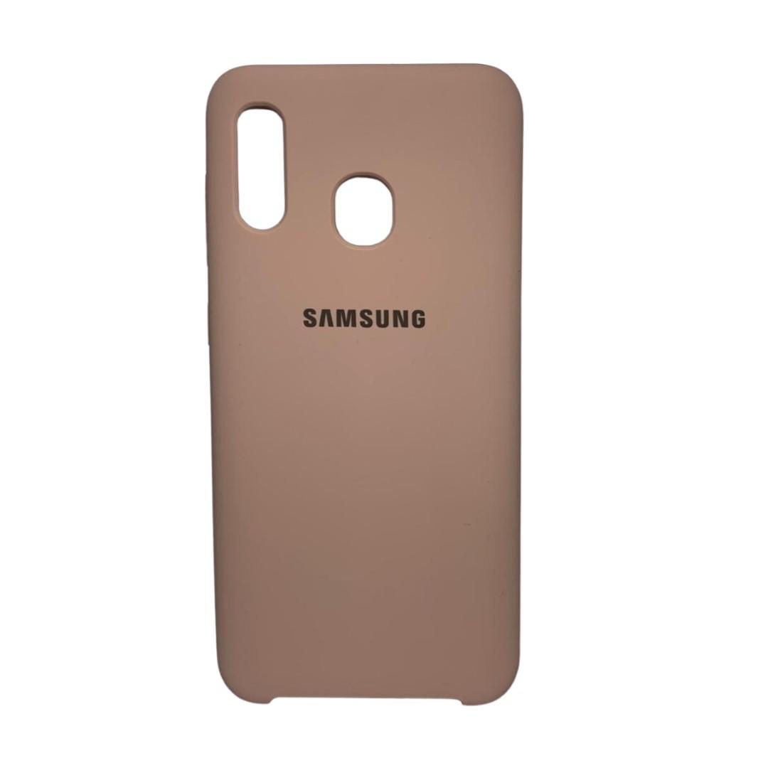 Capa Original Silicone Case Samsung A20/A30 Nude SC-A20/A30-NU
