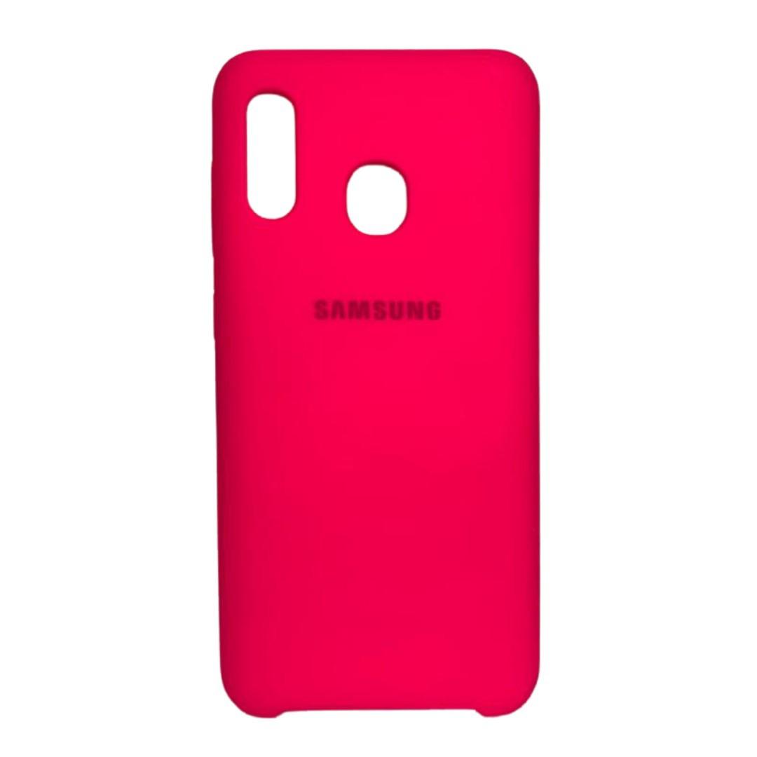 Capa Original Silicone Case Samsung A20/A30 Rosa Pink SC-A20/A30-RP