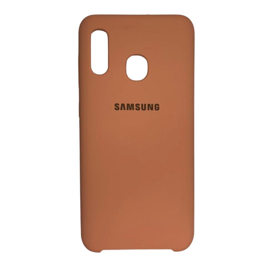 Capa Original Silicone Case Samsung A20/A30 Salmão SC-A20/A30-SA