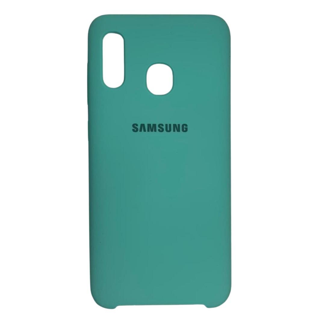 Capa Original Silicone Case Samsung A20/A30 Verde Claro SC-A20/A30-VC