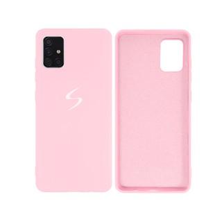 Capa Original Silicone Case Samsung A51 Rosa Bebê SC-A51-RB