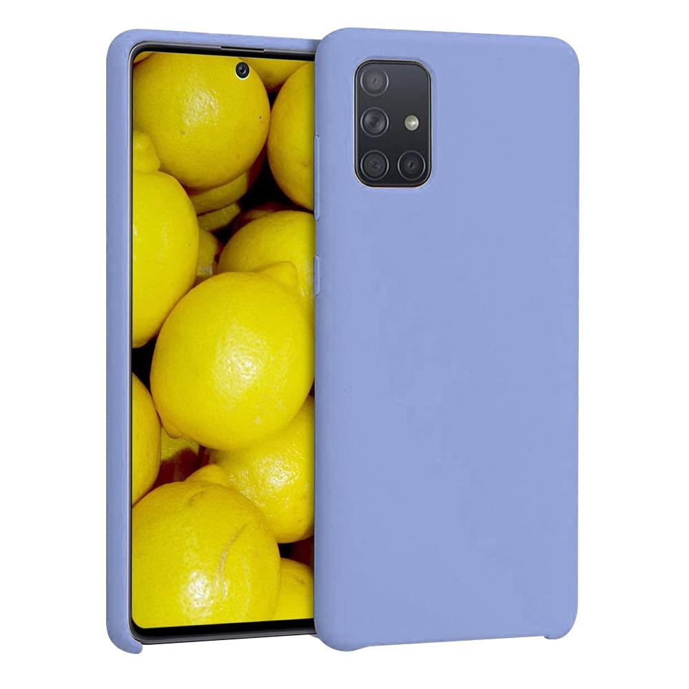 Capa Silicone Case Samsung A71 Azul Acinzentado SC-A71-AA