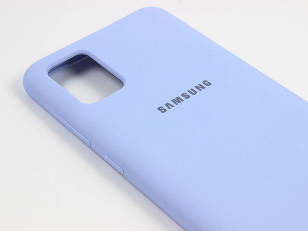 Capa Silicone Case Samsung A71 Azul Claro SC-A71-AZC
