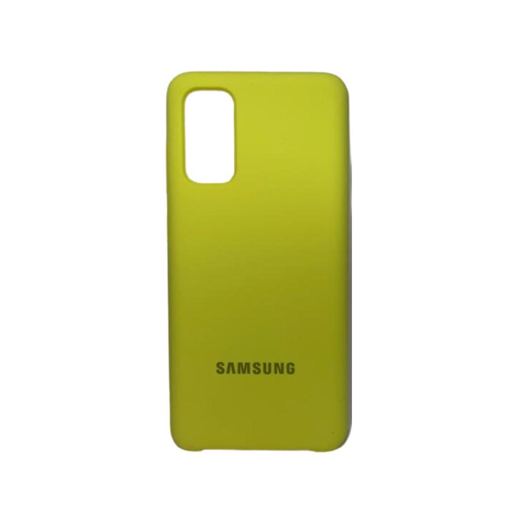 Capa Original Silicone Case Samsung S20 Amarela SC-S20-AM