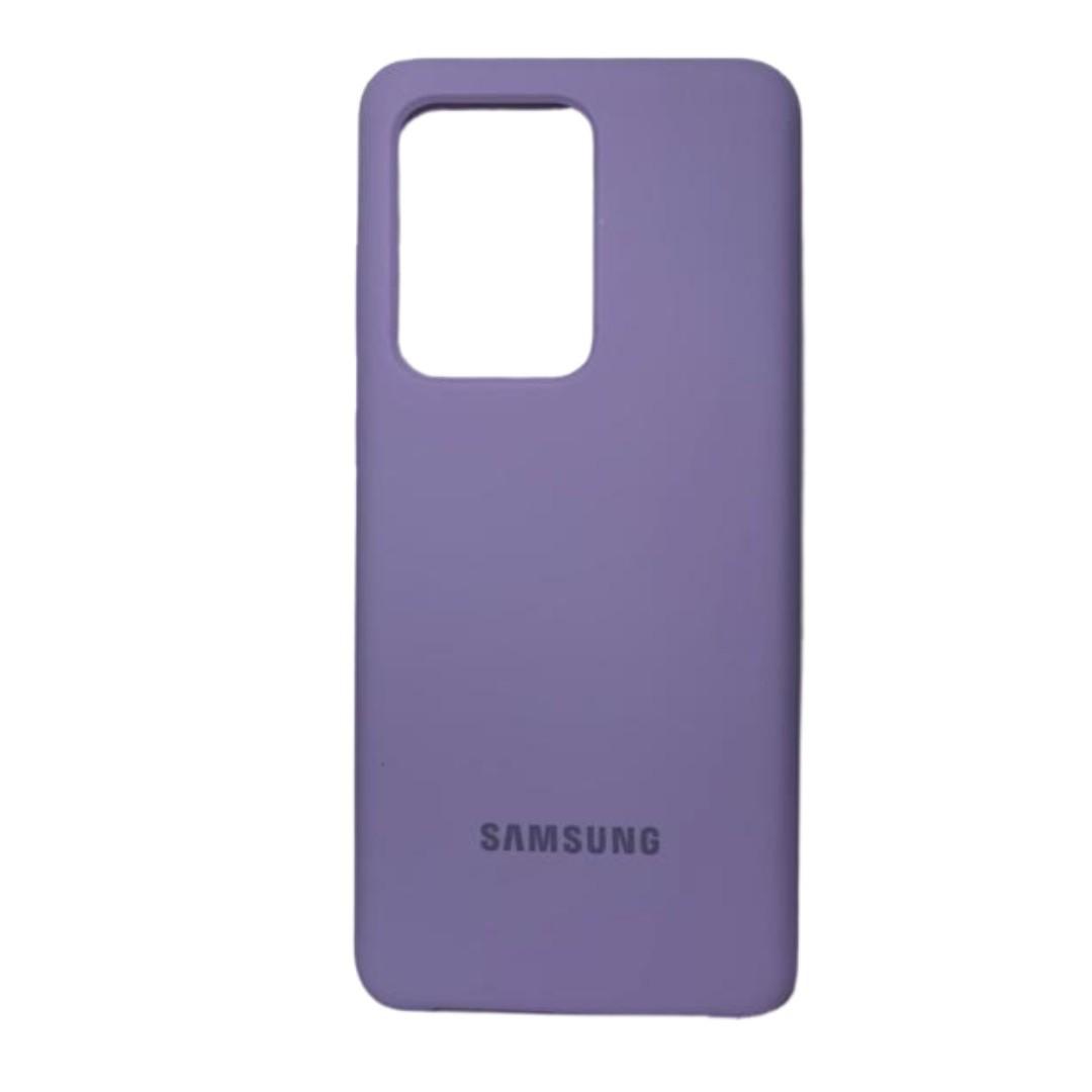 Capa Original Silicone Case Samsung S20 Ultra Lilás SC-S20U-LI