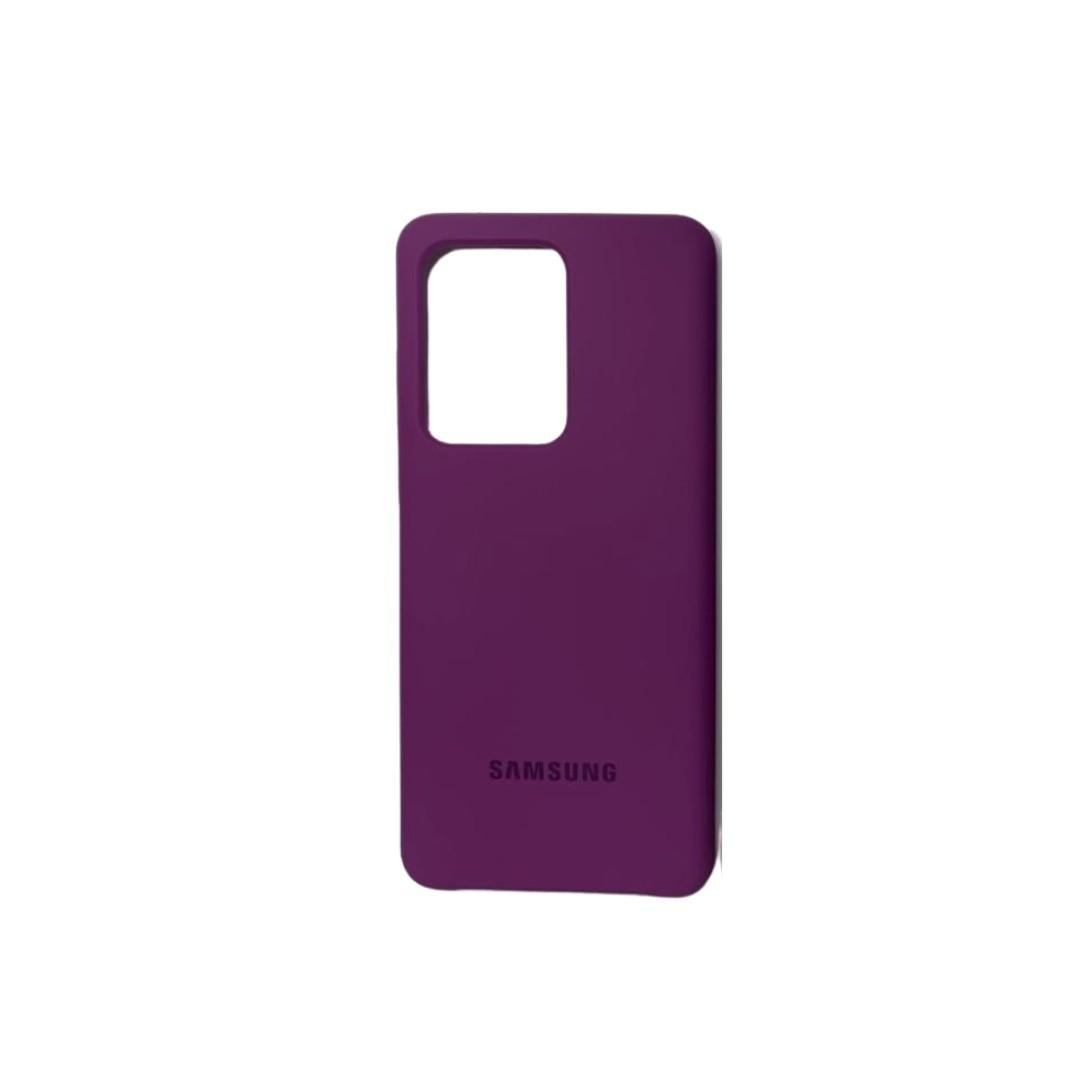 Capa Original Silicone Case Samsung S20 Ultra Roxo SC-S20U-RO
