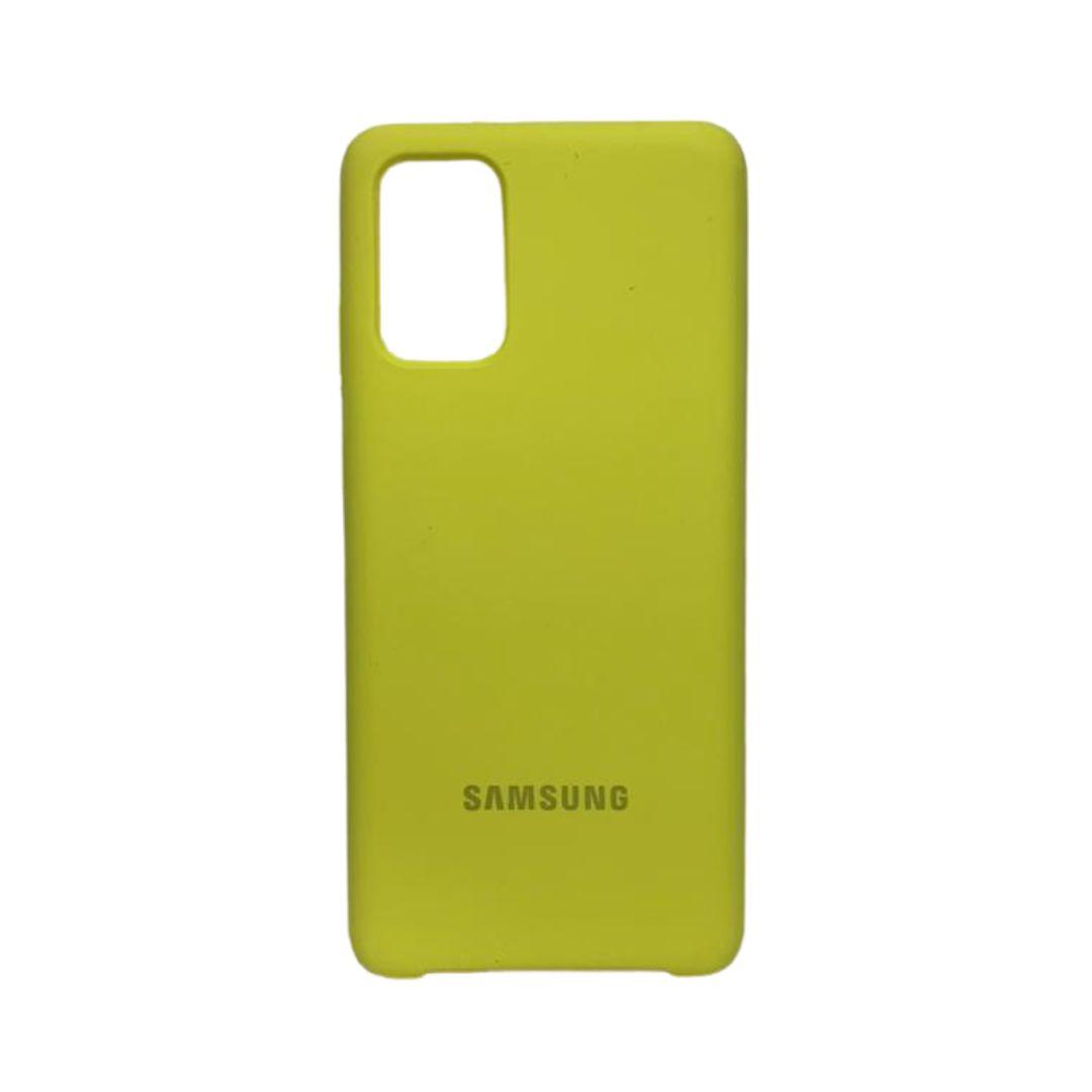Capa Original Silicone Case Samsung S20 Plus Amarela SC-S20PLUS-AM