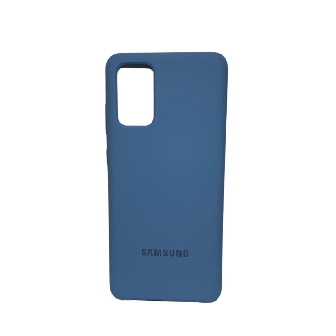 Capa Original Silicone Case Samsung S20 Plus Azul Claro SC-S20PLUS-AC